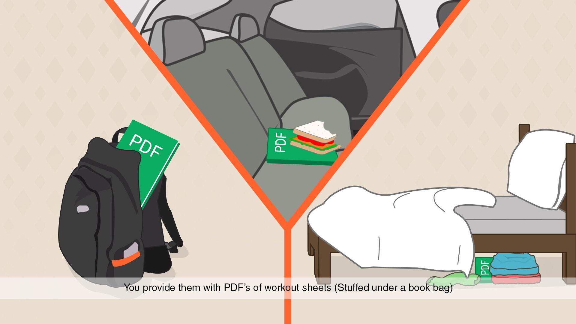 Video 3 - PDF's Stuffed under a bookbag